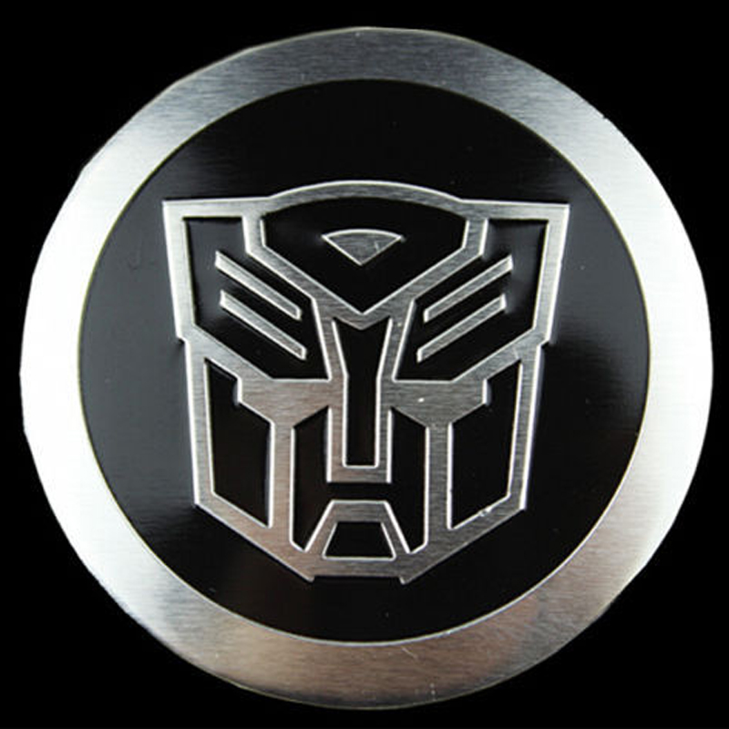 3 X Araç Amblem Badge Decal Sticker Çivisiz Tekerlek Merkezi Transformers Metal