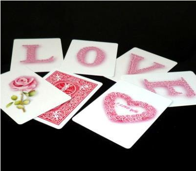 Free shipping! Rose The Card LOVE - Magic Tricks/Props,magic for lover,Romantic magic,Accessories,stage,close up magic