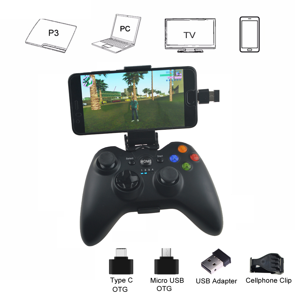 Android Wireless Controller Için PS3 Konsolu/Telefon/PC/TV Box Joystick Için 2.4G Joypad Game Controller Xiaomi Akıllı Telefon