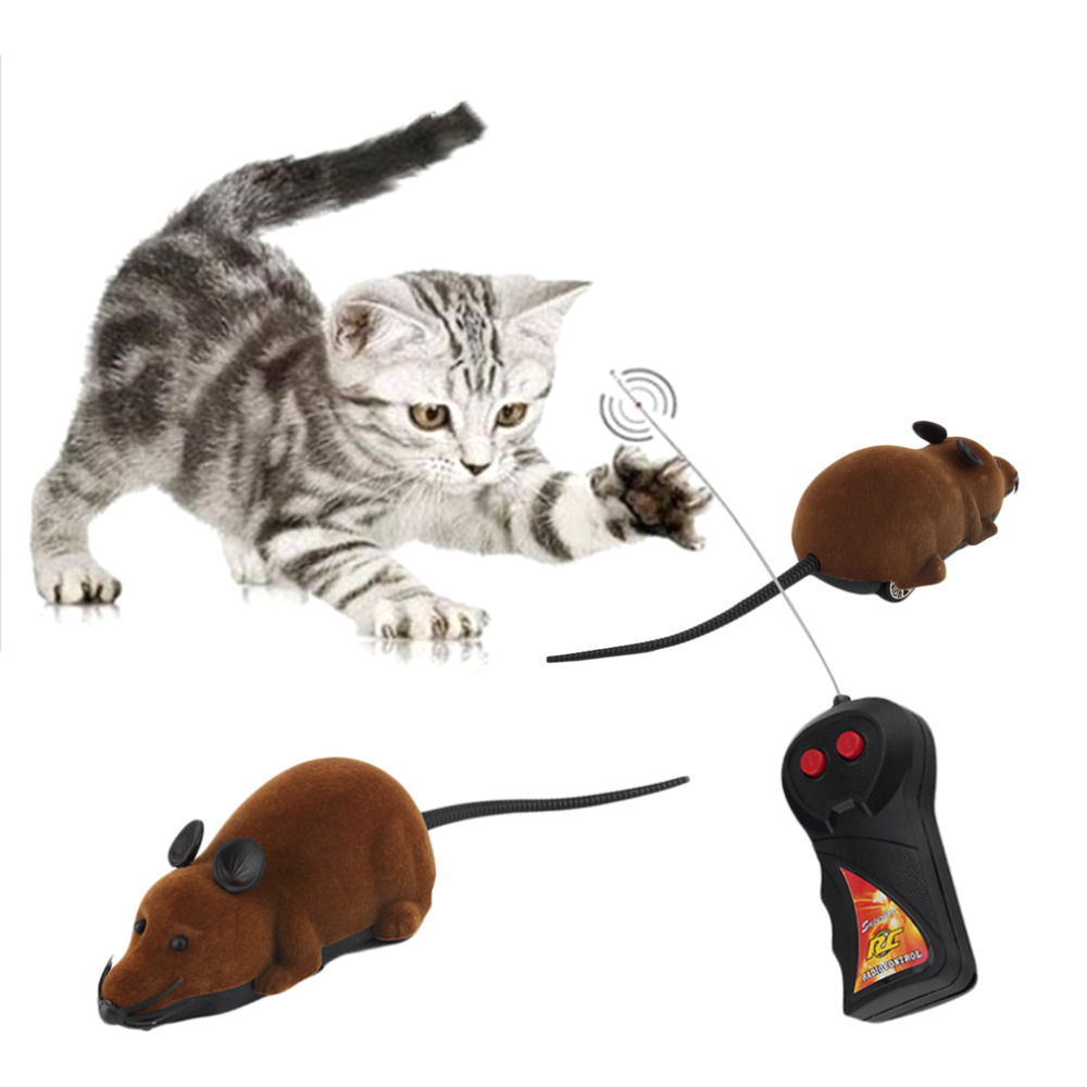 Scary Remote Control Simulation Plush Mouse Mice Kids Toys Gift for Cat Dog New