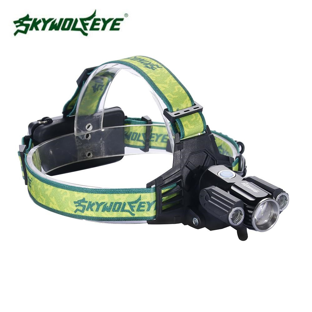 Skywolfeye 30000 LM 3 T6 LED Far 2X18650 El Feneri Torch Lambası