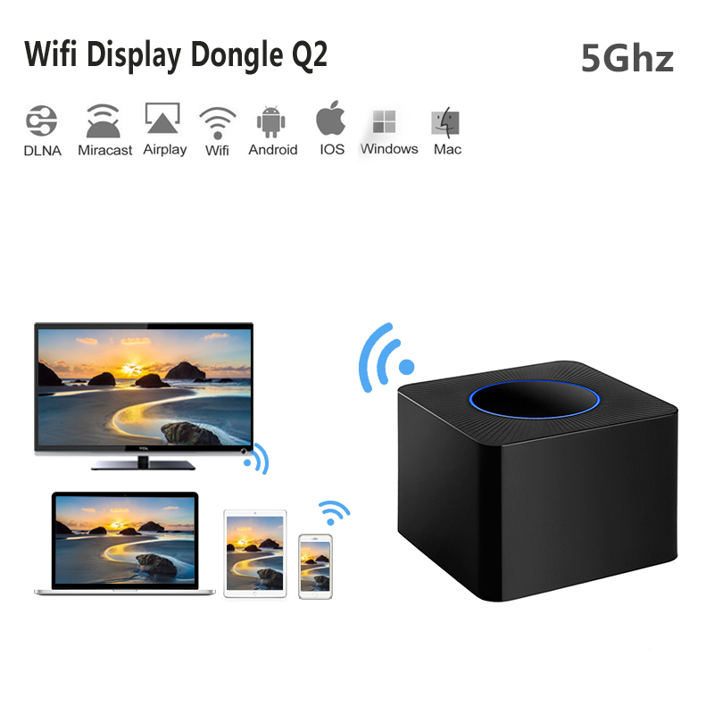 Yeni 5 Ghz Wifi HDMI ayna TV Çubuk 1080 P pc Android tv Miracast DLNA Airplay WiFi Ekran streamer dongle YouTube Chromecast 2