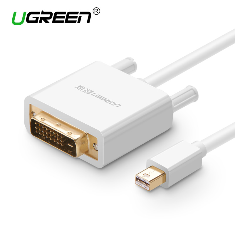 Ugreen Thunderbolt 1/2 Mini Displayport Mini DP dvi D 24 + 1 Kablo Converter MacBook Pro AiMini TV Laptop Projektör için adaptörü